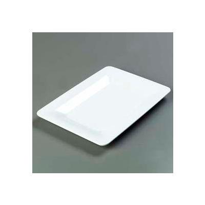 "Carlisle 4441402 - Designer Displayware™ Wide Rim Rectangle Platter 14"" x 10"", White - Pkg Qty 4"