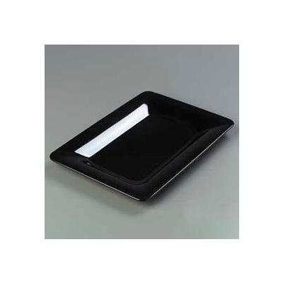 "Carlisle 4441403 - Designer Displayware™ Wide Rim Rectangle Platter 14"" x 10"", Black - Pkg Qty 4"