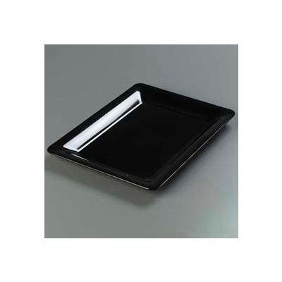 "Carlisle 4441603 - Designer Displayware™ Wide Rim Rectangle Platter 17"" x 13"", Black - Pkg Qty 4"