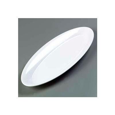 "Carlisle 4441802 - Designer Displayware™ Wide Rim Salmon Platter 22"" x 8"", White - Pkg Qty 4"