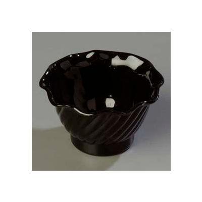 Carlisle 453003 - Tulip Dessert Dish 5 Oz., Black - Pkg Qty 24