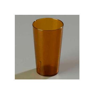 Carlisle 521213 - Stackable™ SAN Tumbler 12 Oz., Amber, Pebbled - Pkg Qty 72
