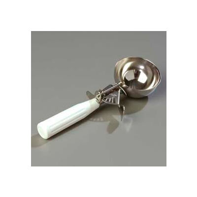 Carlisle 60300-6 - Disher W/ White Handle 4-2/3 Oz - Pkg Qty 12