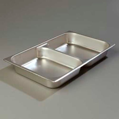 "Carlisle 607002D - DuraPan™ Full-Size Divided Pan 2-1/2"", 6 Ea"