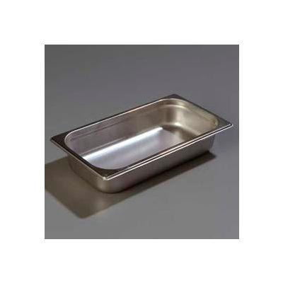 "Carlisle 607132 - Durapan™ Light Gauge One-Third Size Pan 6-7/8"" x 12-3/4"" x 2.5"" Deep - Pkg Qty 6"