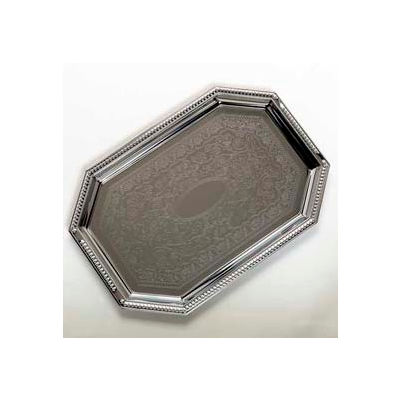 "Carlisle 608901 - Celebration™ Octagonal Tray W/ Beaded Border 17-1/8"" x 11-3/4"" - Pkg Qty 12"