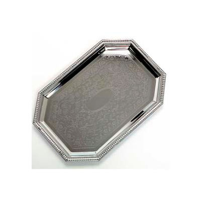 "Carlisle 608902 - Celebration™ Octagonal Tray W/ Beaded Border 20"" x 13-3/4"" - Pkg Qty 12"