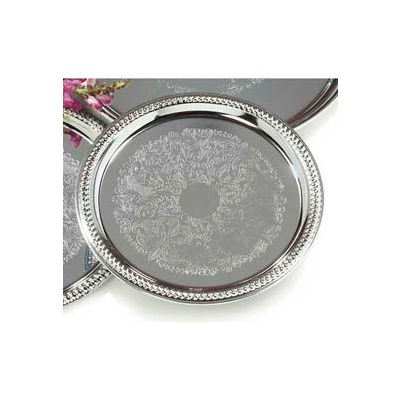 "Carlisle 608907 - Celebration™ Round Gadroon Tray 14"" - Pkg Qty 12"