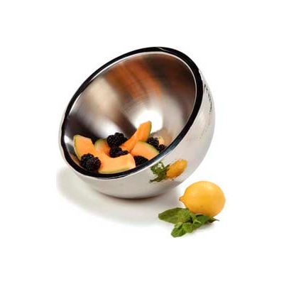 """Carlisle 609202 - Dual Angle Bowl W/Hammered Finish 3-1/3 Qt., 10"""", Stainless Steel - Pkg Qty 2"""