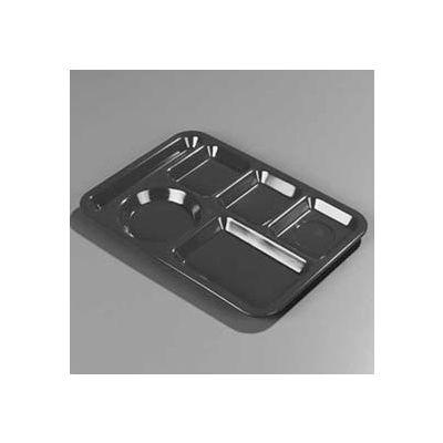 "Carlisle 614PC25 - Left-Hand Polycarbonate 6-Compartment Tray 10"" x 14"", Tan - Pkg Qty 24"