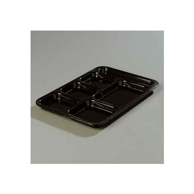 Carlisle 614R03 - Right-Hand Compartment Tray, Black - Pkg Qty 24