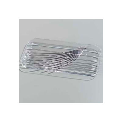 "Carlisle 641707 - Festival Trays™ Rectangular Tray 12-1/2"" x 7"", Clear - Pkg Qty 6"
