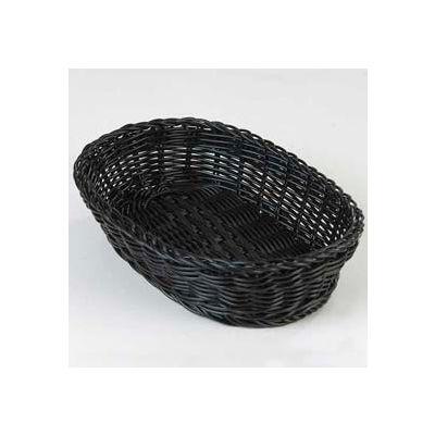 "Carlisle 655003 - Woven Baskets Oval Basket Small 9"", Black - Pkg Qty 6"