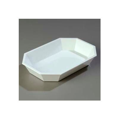 "Carlisle 672302 - 2.5 Lb. Low Profile Crock 10-1/2"" x 7"", White - Pkg Qty 6"