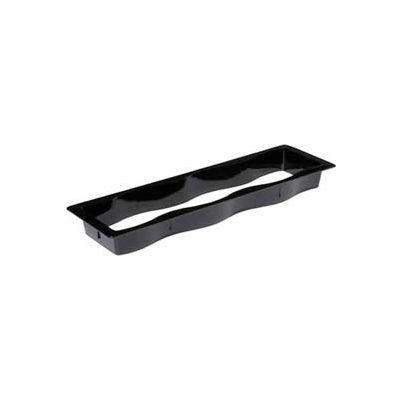 Carlisle 698803 - Modular Displayware Half Long Collar 21-5/8 x 7-1/8 x 11, Black - Pkg Qty 6