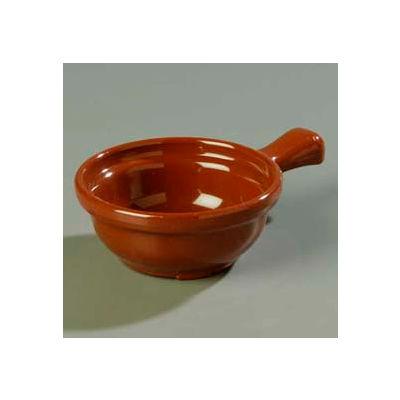 """Carlisle 700628 - Handled Soup Bowl 8 Oz., 4-5/8"""", Lennox Brown - Pkg Qty 24"""