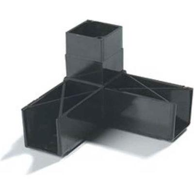 "Carlisle 900331 - Sneeze Guard Assembly Blocks, 1-1/4"" 90° 3 Prong, Gray"
