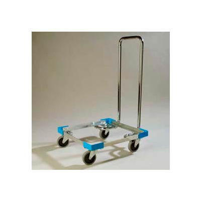 "Carlisle C2222A14 - OptiClean Open Aluminum Dolly W/Handle 21-3/4"", 21-3/4"", 35-1/2"", Carlisle Blue"