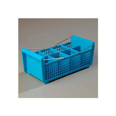 Carlisle C32P214 - Opticlean™ Flatware Basket With Handles, Carlisle Blue - Pkg Qty 6