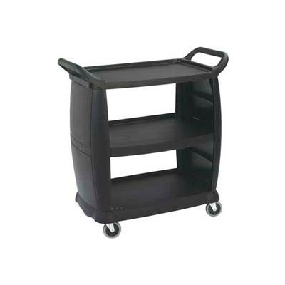 """Carlisle CC203603 - Small Bussing and Transport Cart 18"""" x 36"""", Black"""