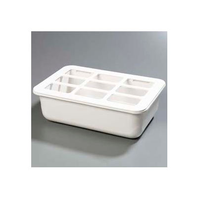 "Carlisle CM104902 - Coldmaster® 6"" Deep Full-Size Coldpan W/Organizer, White"