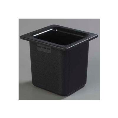 "Carlisle CM110503 - Coldmaster® 6"" Deep High Capacity Sixth-Size Food Pan, Black"