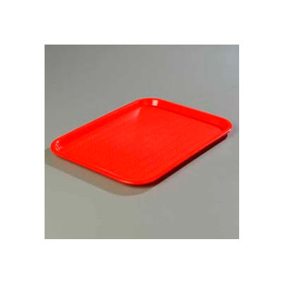 "Carlisle CT101405 - Cafe® Standard Tray 10"" x 14"", Red - Pkg Qty 24"
