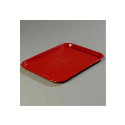 "Carlisle CT121661 - Cafe® Standard Tray 12"" x 16"", Burgundy - Pkg Qty 24"