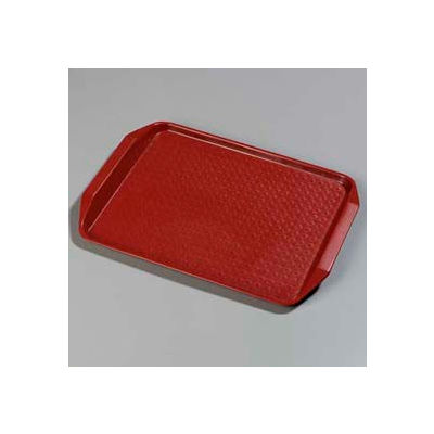 "Carlisle CT121705 - Cafe® Handled Tray 12"" x 17"", Red - Pkg Qty 24"