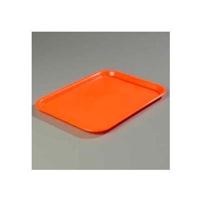 "Carlisle CT141824 - Cafe® Standard Tray 14"" x 18"", Orange - Pkg Qty 12"
