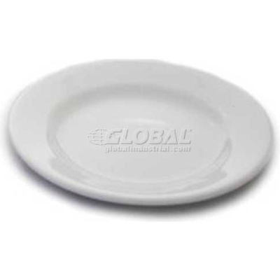 "Dinex DX5ACBP02A - 5-1/2"" China Bread Plate, 5-1/2"", Bright White"