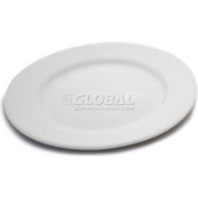 "Dinex DX9ACP02A - 9"" China Entree Plate 9"", Bright White"