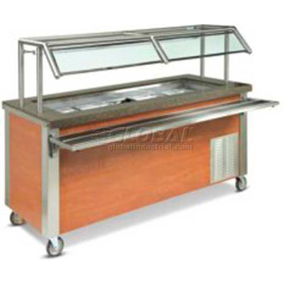 """Dinex DXDCF27 - Dinexpress Cold Food NSF7-2 Well W/9-7/16"""" Deep Wells, 35"""" x 30"""", Stainless Steel"""