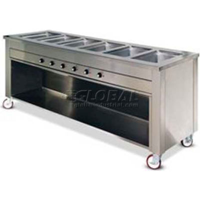 """Dinex DXDHF2HIB - Dinexpress Hot Food Counter, 2 Well W/ Heat-in-Base, 35"""" x 30"""" x 36"""", S/S"""