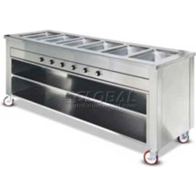 """Dinex DXDHF3LL - Dinexpress Shape Hot Food, 3 Well Left, 35"""" x 55-1/4"""" x 36"""", Stainless Steel"""