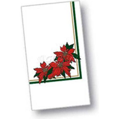 """Dinex DXH5455DN01 - Poinsettia Blossom Design Napkin,15"""" x 17"""", 1000/Cs"""