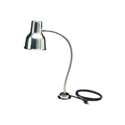 """Carlisle HL8185B00 - FlexiGlow™ Single Arm Heat Lamp W/ Board & Pan 24"""", Aluminum"""