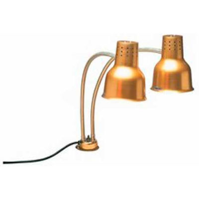 "Carlisle HL8285G21 - FlexiGlow™ Dual Arm Heat Lamp, 24"", Gold"