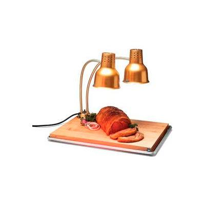 "Carlisle HL8285GB21 - FlexiGlow™ Dual Arm Heat Lamp W/ Board & Pan 24"", Gold"