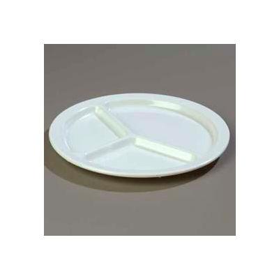 "Carlisle KL10202 - Kingline™ 3-Compartment Plate 10-1/16"" x 3/4"", White - Pkg Qty 48"
