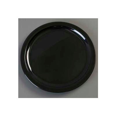 "Carlisle KL11603 - Kingline™ Dinner Plate 10"" x 3/4"", Black - Pkg Qty 48"