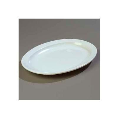 "Carlisle KL12602 - Kingline™ Oval Platter 13-1/2"", 9-3/4"", 1-3/16"", White - Pkg Qty 12"