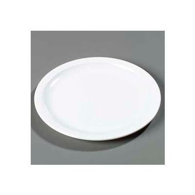 """Carlisle KL20102 - Kingline™ Sandwich Plate 7-7/32"""" x 3/4"""", White - Pkg Qty 48"""