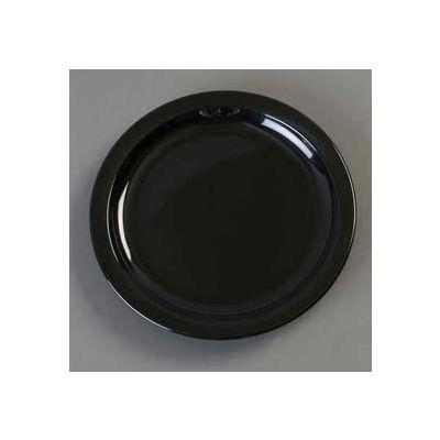 "Carlisle KL20103 - Kingline™ Sandwich Plate 7-7/32"" x 3/4"", Black - Pkg Qty 48"