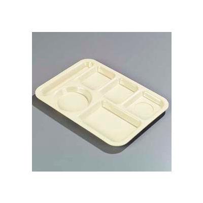 Carlisle P61425 - Left-Hand 6-Compartment Tray, Tan - Pkg Qty 24