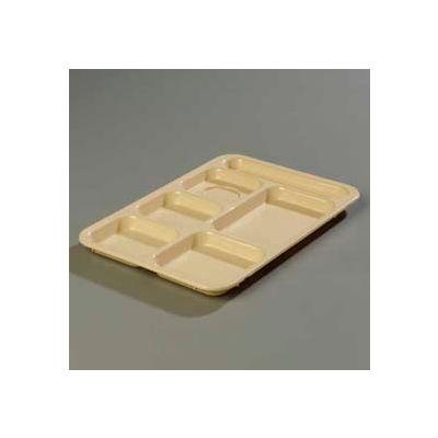 Carlisle P614R25 - Right-Hand 6-Compartment Tray, Tan - Pkg Qty 24