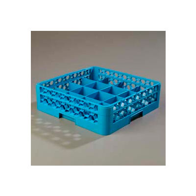 Carlisle RC16-114 - Opticlean™ 16-Compartment Cup Rack W/ 1 Open Extender, Blue - Pkg Qty 4