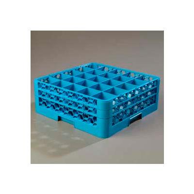 Carlisle RG25-214 - Opticlean™ 25-Compartment Glass Rack W/ 2 Extenders, Carlisle Blue - Pkg Qty 3