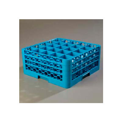 Carlisle RG25-314 - Opticlean™ 25-Compartment Glass Rack W/ 3 Extenders, Carlisle Blue - Pkg Qty 2