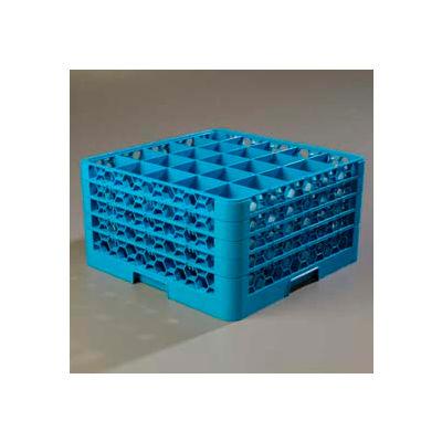 Carlisle RG25-414 - Opticlean™ 25-Compartment Glass Rack W/ 4 Extenders, Carlisle Blue - Pkg Qty 2